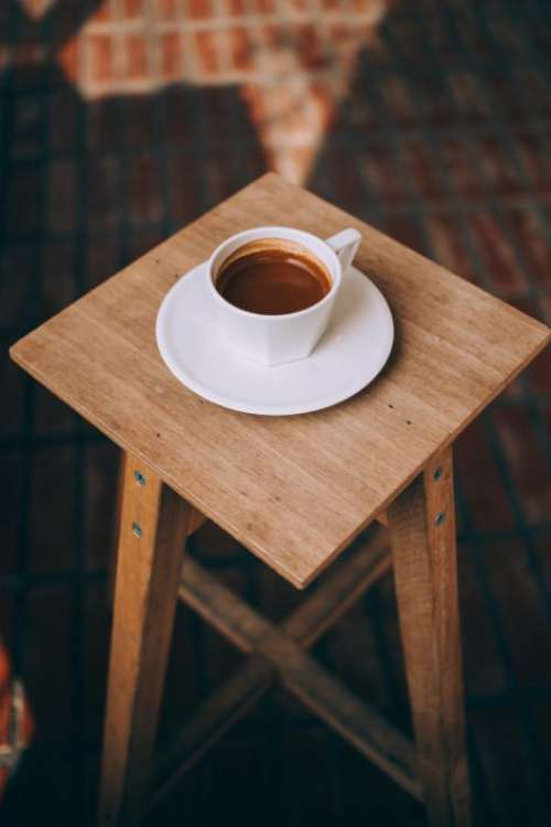 Coffee Cup Table Free Photo