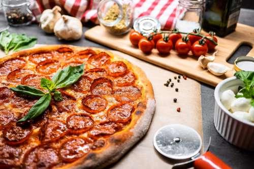 Pizza Salami Free Photo