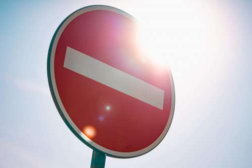 European No Entry For Vehicular Traffic Road Sign Free Photo