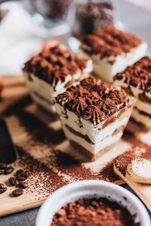 Individual Tiramisu Desserts Free Photo