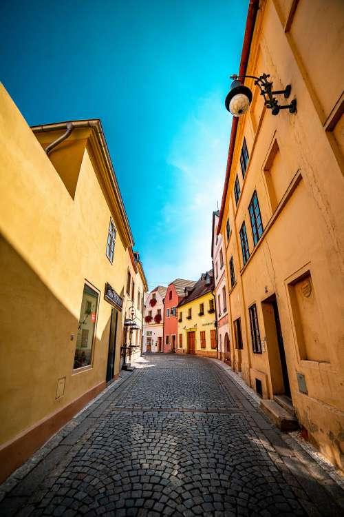 Beautiful Street in Louny City, Czechia Free Photo