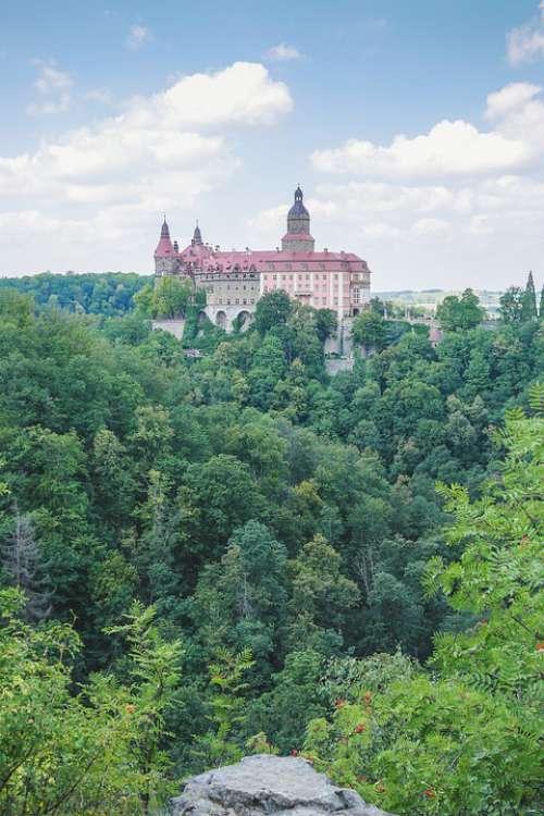 Castle Książ History Fortress Building Landscape