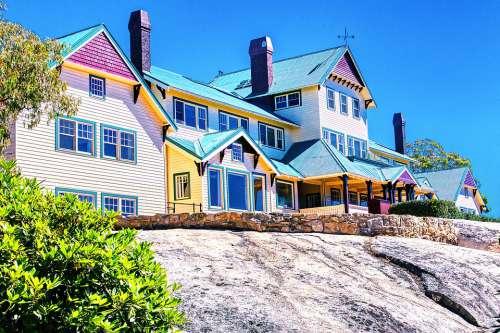 Chalet Hotel Summer Resort Mountain Architecture