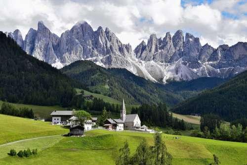 Dolomites Dolomiti Italy Mountain Alps Nature