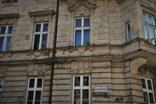 Old Houses Bratislava Window The Walls Of The