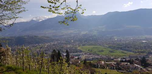 Meran Valley View South Tyrol Racecourse Waalweg