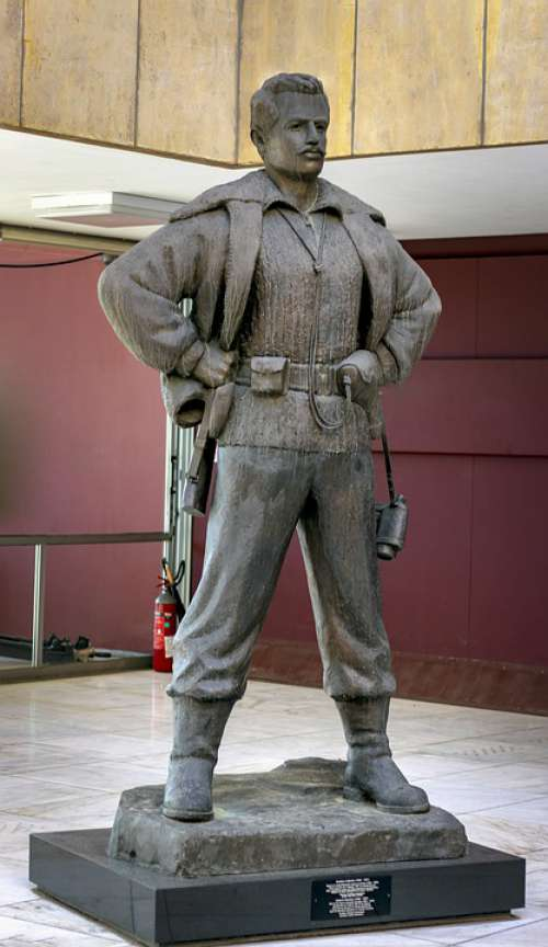 Statue Gregory Afxentiou War Museum Cyprus Hero