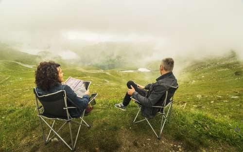 Couple Clouds Relationship Alps Woman Landscape