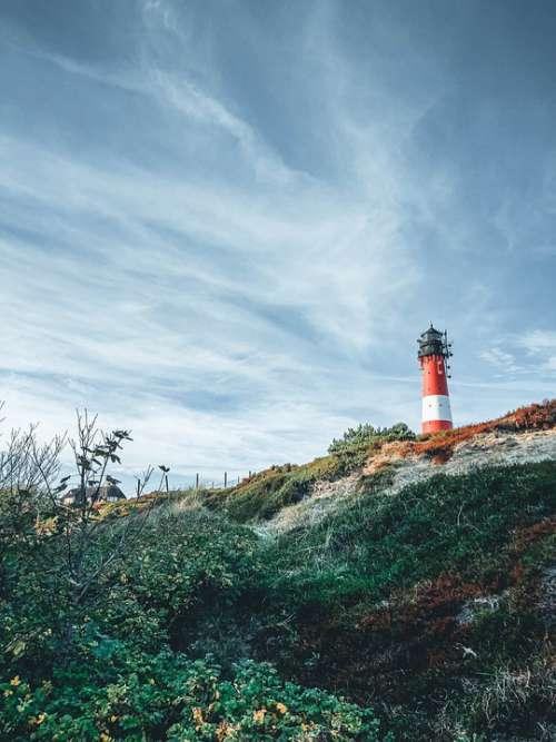 Sylt Lighthouse North Sea Island Elbow Coast