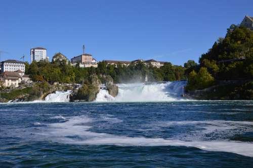 Rhine Falls Water Schaffhausen Switzerland River