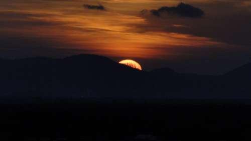 Sunrise Landscape Mountain Reflection Holidays