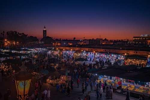 Marrakech Marketplace Morocco Bazaar Culture