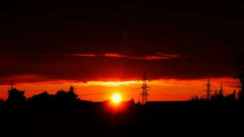 Sunset Sun Germany Sky Nature Mood Evening