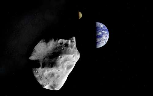 Asteroid Planet Land Cosmos Space