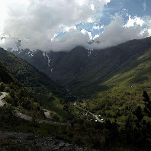 The Pyrenees Mountains Streamer Mountain France