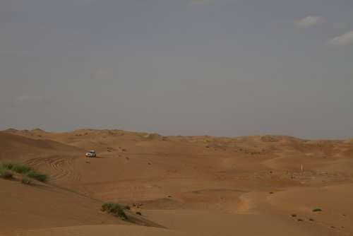 Desert Sand Dunes Dry Landscape Natural Dune