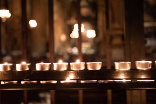 Candle Church Prayer Religion Candles Candlelight