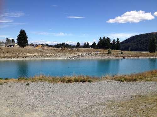 Water Canterbury New Zealand Lake Tekapo Lake