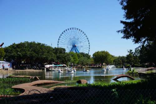 Ferris Wheel Fair Park Texas Swan Boat Dallas