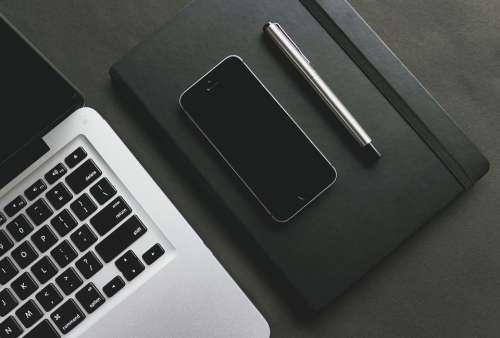 Pen Notebook Notepad Diary Stationery Desk Laptop