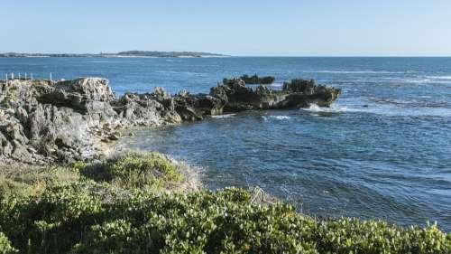 Coast Rock Face Ocean Seascape Travel Rockface