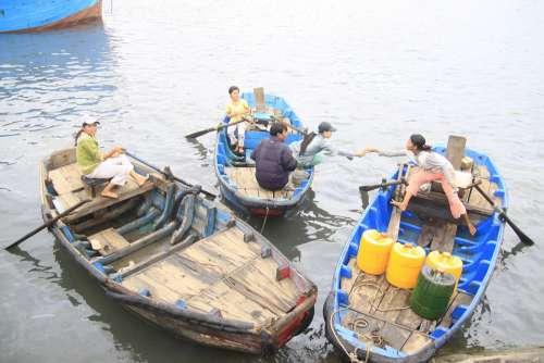 Boat Lagi Port Vietnam Fishing Village