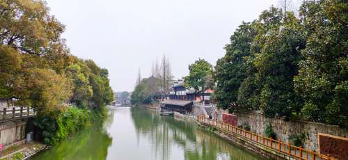 China River The Ancient Town Clear Water Asia