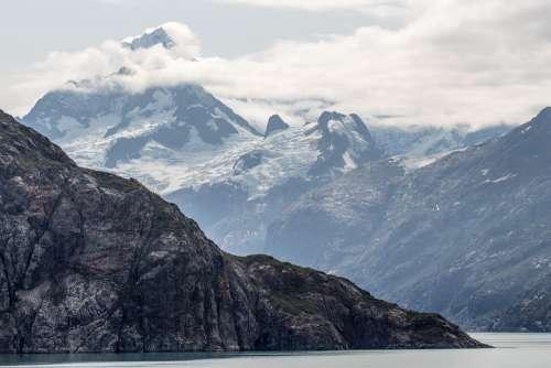 Mountain Peak Alaska Glacier Landscape Nature