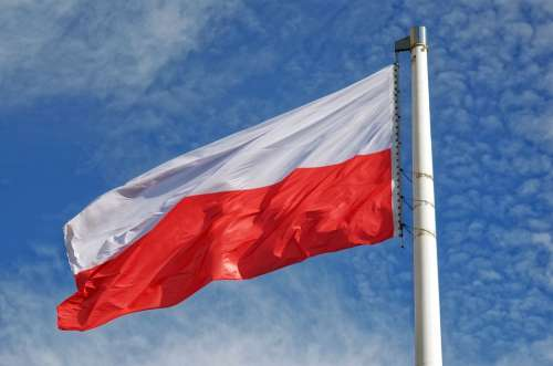Flag The National Polish Two Colors White Red