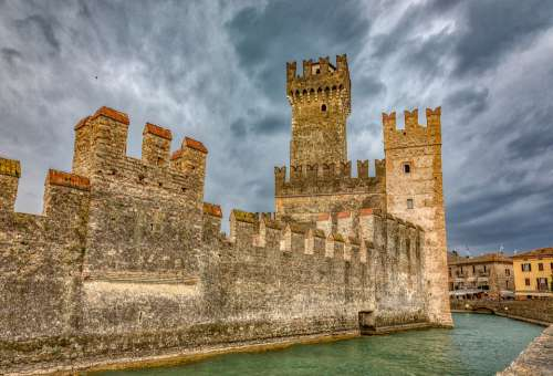 Garda Sirmione Italy Architecture Lombardy
