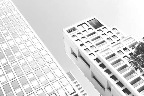 Architecture Frankfurt Ffm Reflection Pattern