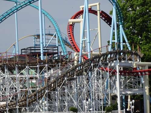 Roller Coaster Linkage Fun Leisure Looping