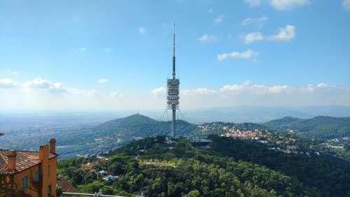 Barcelona Tv Tower Tibidabo Architecture Catalonia