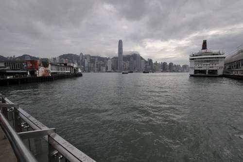 Hong Kong Harbour Travel Tourism Cityscape Asia