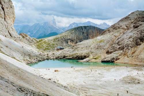 Dolomites Lake Refuge Trail Hiking Antermoia