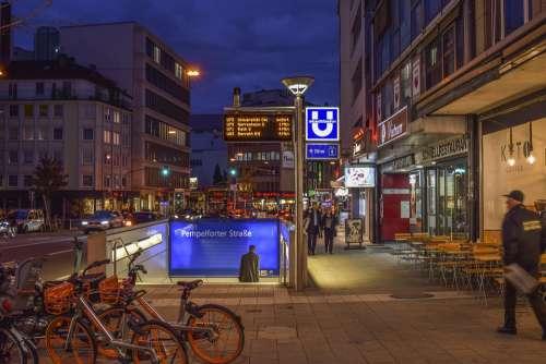 City Night Architecture Lighting Building Urban