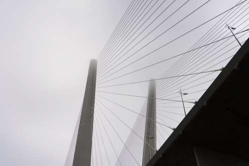 Bridge Cable-Stayed Bridge Pillar Goal Modern