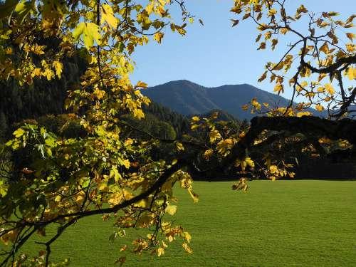 Autumn Landscape Nature Mood Mountains Fall Leaves