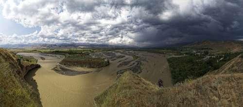 Tajikistan Province Of Sughd Serafschan River