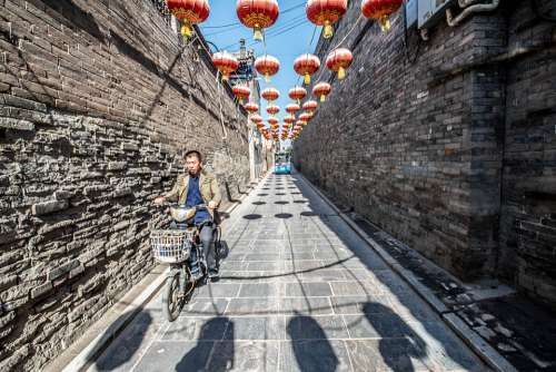 Old Town Alley Bicycle Bike Lanterns
