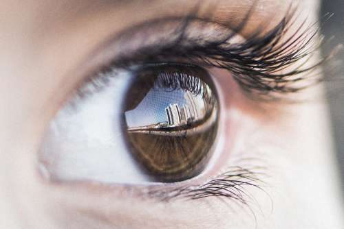 Eye Reflex Photography Girl Selfie Human Building