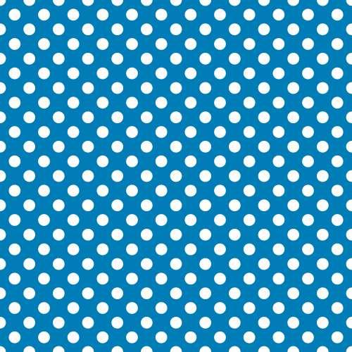 Polka Dots Blue White