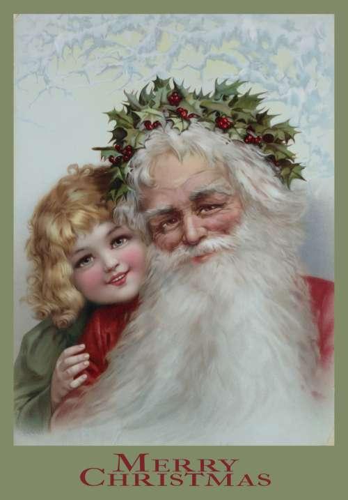 Christmas Santa Poster Remix