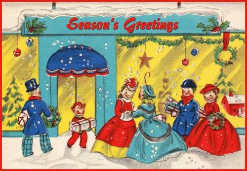Season's Greetings Vintage 2 Card