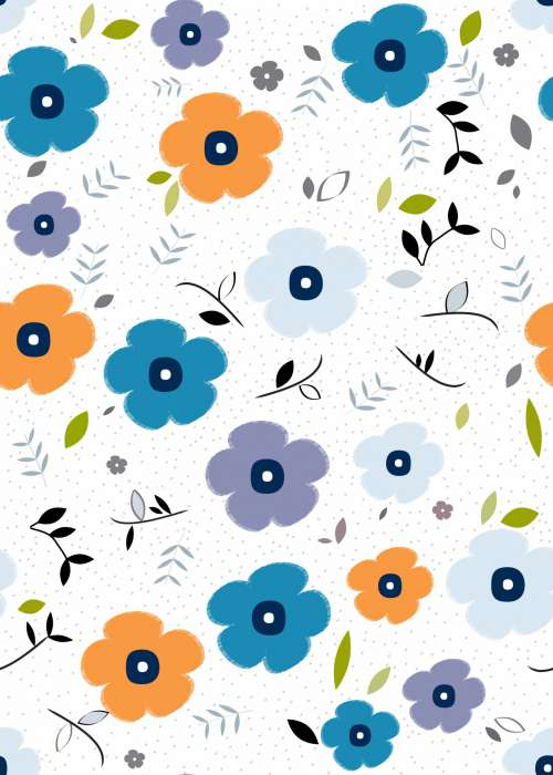 Floral Wallpaper Pattern Background