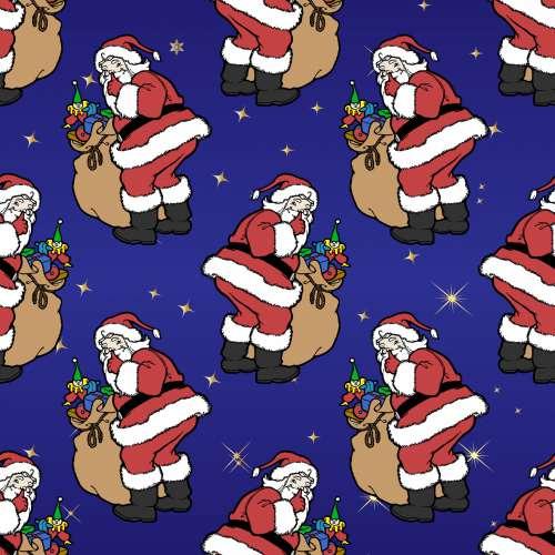Christmas Santa Wallpaper Pattern
