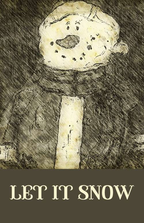Vintage Snowman Poster