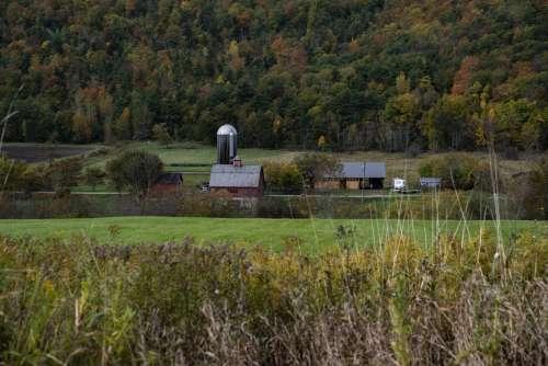Autumn Farm Landscape Scenic