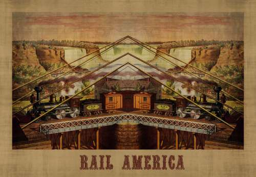 Rail America Travel Poster