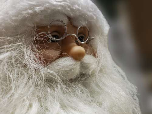 Santa Face Closeup